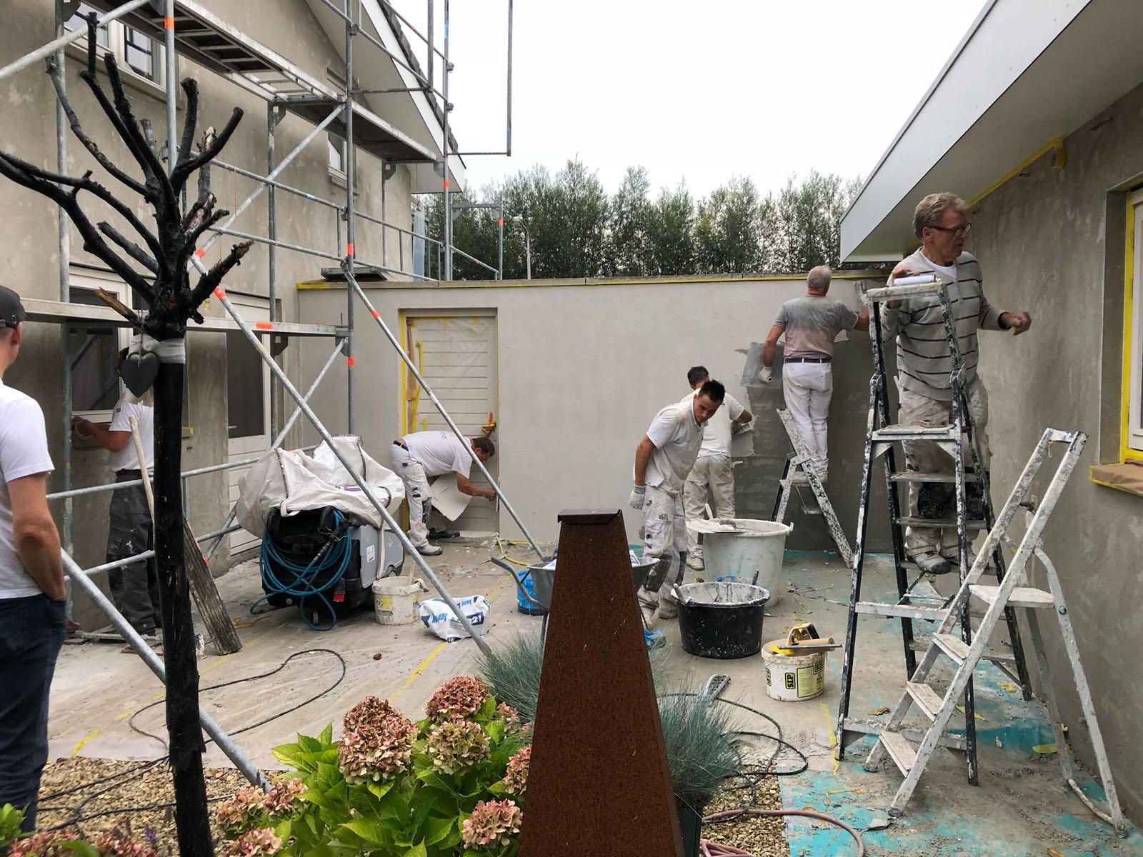 Stucwerk met dampdoorlatende tex voor buiten in Schelluinen - Stucadoorsbedrijf Broeren van Osch 4