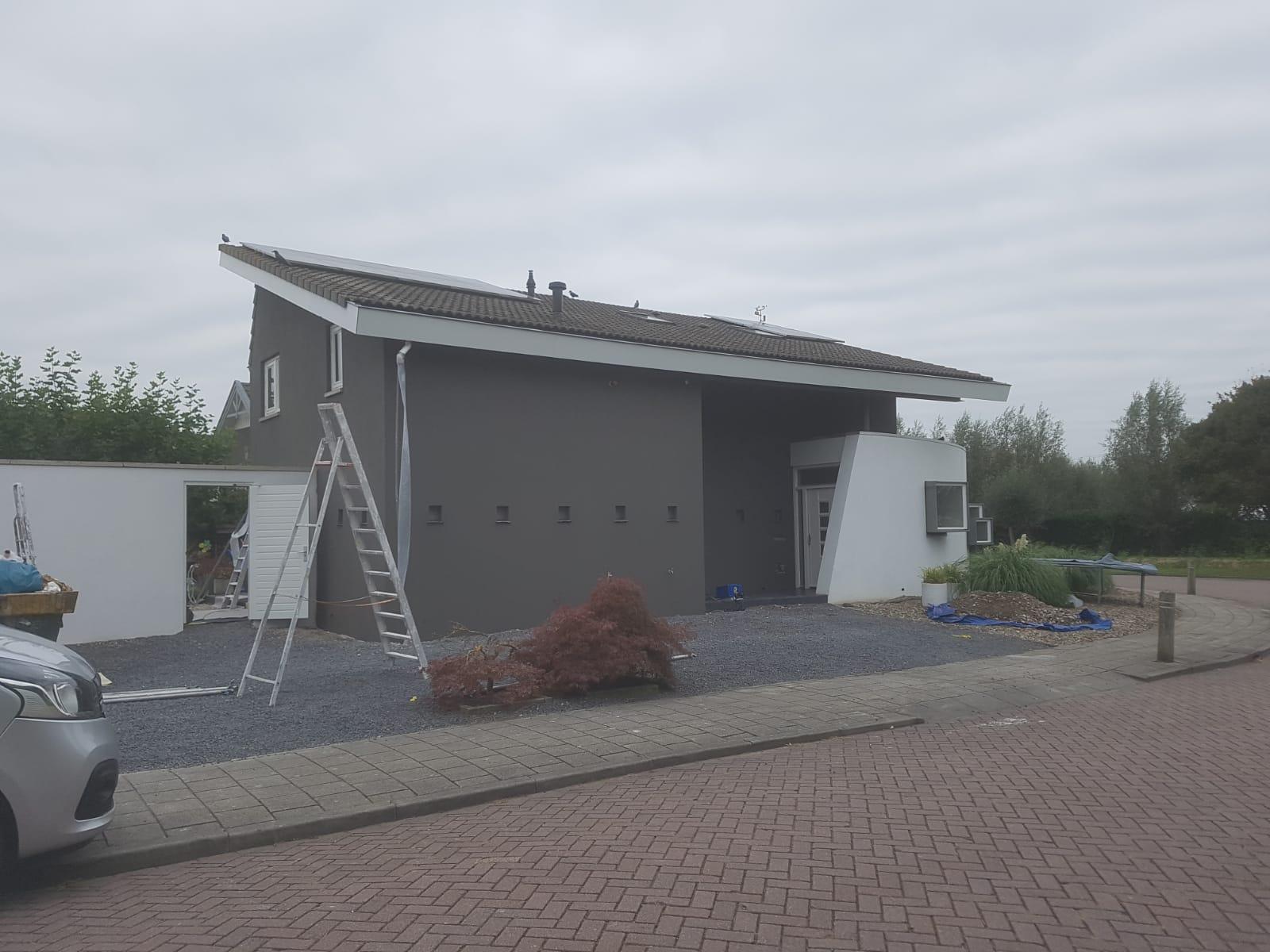 Stucwerk met dampdoorlatende tex voor buiten in Schelluinen - Stucadoorsbedrijf Broeren van Osch 5